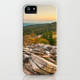 Spruce Knob Mountain Sunset iPhone Case