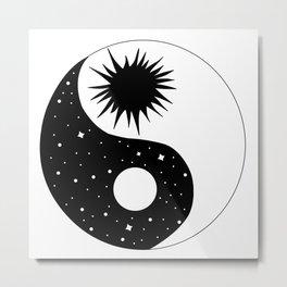Celestial Sun Moon Yin Yang Metal Print