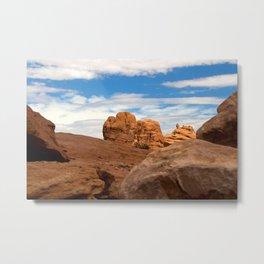 The rocks of Moab Metal Print