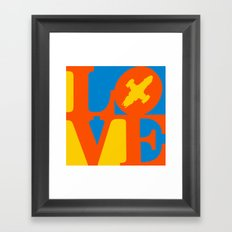 KEEPS HER IN THE AIR Framed Art Print