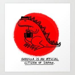 Godzilla Fun Fact Art Print