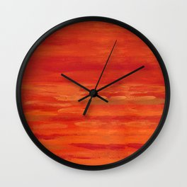 Red abstract painting Wall Clock