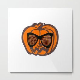 Cool Jack-o'-lantern Pumpkin Halloween Metal Print