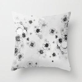 Japanese Shoji Flower Pattern Throw Pillow