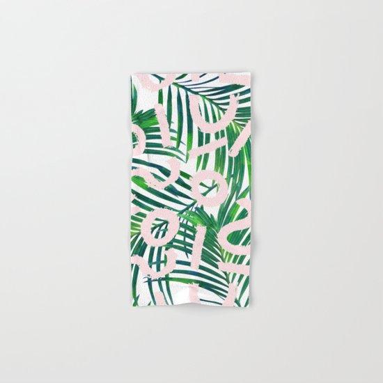Palm Blabber #society6 #decor #buyart Hand & Bath Towel