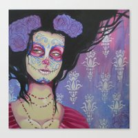 baroque Canvas Prints featuring Baroque by Megan Ellis