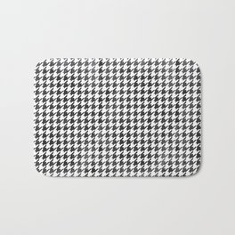 Rugged Houndstooth  Bath Mat