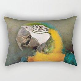 Portrait of a Parrot Rectangular Pillow