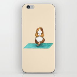 Yoguineas - Tree Pose iPhone Skin