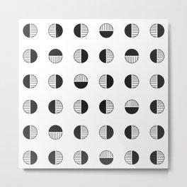Circle Tribal Geometric Stamp Pattern Metal Print