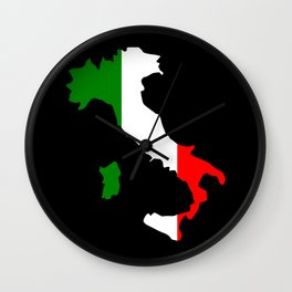 Italy boot shaped flag usa Wall Clock