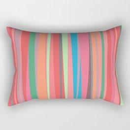 happy stripes Rectangular Pillow