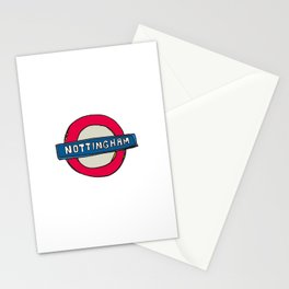 tube sign Stationery Cards