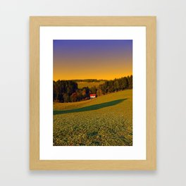 Beautiful sundown in the countryside | landscape photography Framed Art Print