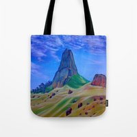 mountain Tote Bags featuring Mountain by ArtSchool