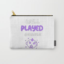 Well Played Quarantine Girl Funny Pregnancy Carry-All Pouch