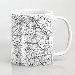 Vintage Map of Georgia (1883) BW Coffee Mug
