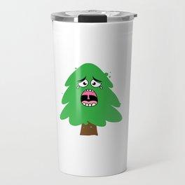 Crying Christmas Tree Travel Mug