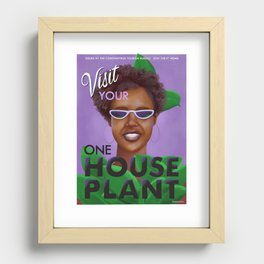 Stay the F Home One House Plant Poster Recessed Framed Print