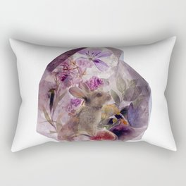 The Crystal and The Hare Rectangular Pillow