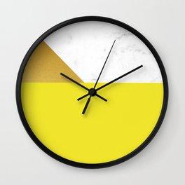 yellow marmor Wall Clock