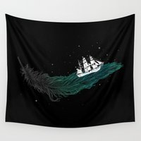 ilovedoodle Wall Tapestries featuring Go with the flow by I Love Doodle