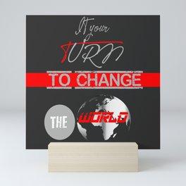 Change The World Mini Art Print