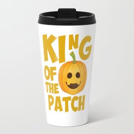 King of the Patch Pumpkin Halloween Graphic T-Shirt Travel Mug
