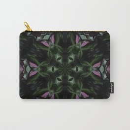 Rose And Jade Geometric Hexagonal  Mandala Pattern Carry-All Pouch