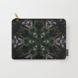 Rose And Jade Geometric Hexagonal  Mandala Pattern Carry-All Pouch