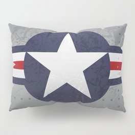 U.S. Military Aviation Star National Roundel Insignia Pillow Sham