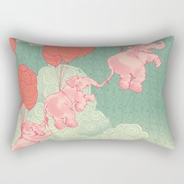 Floating Elephants Rectangular Pillow