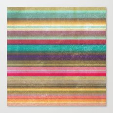 Stripes - pattern Canvas Print