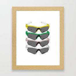 Tour de France Glasses Framed Art Print