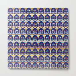 Multicolored fans and stripes pattern Metal Print