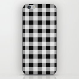 TARTAN GINGHAM CHECKERED GREY / BLACK iPhone Skin