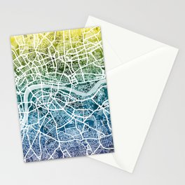 London England Street Map Stationery Cards