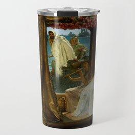"Sir Lawrence Alma-Tadema ""The Meeting of Antony and Cleopatra"" Travel Mug"