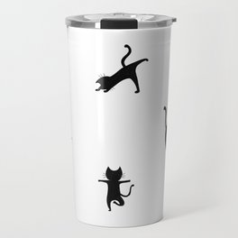 Yoga cats - black cats doing yoga Travel Mug