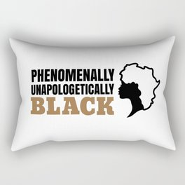 Phenomenally Unapologetically Black | African Queen Rectangular Pillow