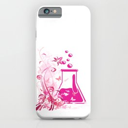 FLORAL GRUNGE CHEMISTRY FLASK iPhone Case