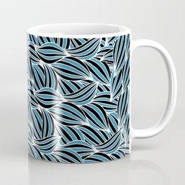 Blue black tangles Coffee Mug