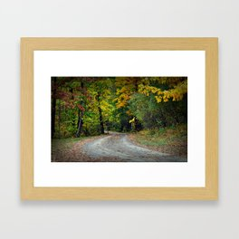 October Road Framed Art Print