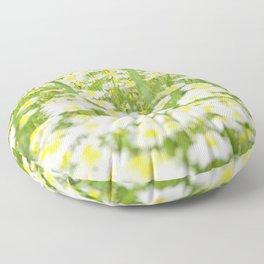 Field of daisies Floor Pillow