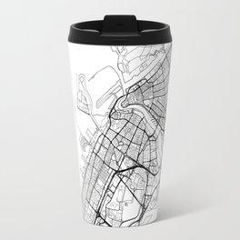 Dubai Map White Travel Mug