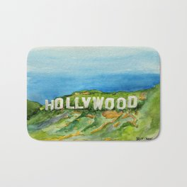 Hollywood Sign - An American Cultural Icon Bath Mat