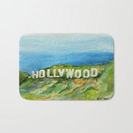 Hollywood Sign - An American Cultural Icon Bath Mat