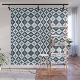 Tile pattern - Blue and White Wall Mural