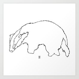 Badger Badger Art Print