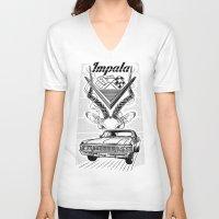 tame impala V-neck T-shirts featuring Chevy Impala by pakowacz